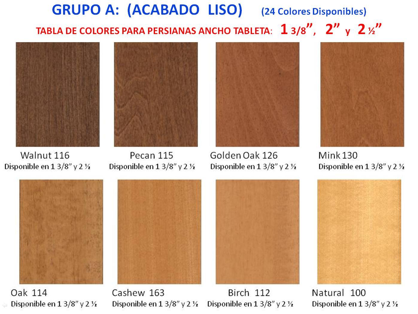 Madera colores linea grupo a 1 - Colores de madera ...